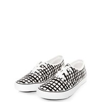 Monochrome Check Lace Up Trainers