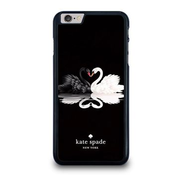 KATE SPADE BLACK WHITE SWAN iPhone 6 / 6S Plus Case Cover