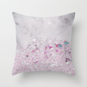Pink Bling Throw Pillow by Shawn Terry King | Society6