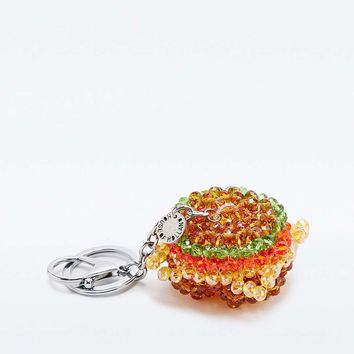 House of Holland Burger Charm Key Ring - Urban Outfitters
