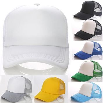 Unisex Attractive Baseball Cap Trucker Mesh Blank Visor Adjustable Sun Hat