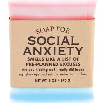 Social Anxiety Vodka Vitamin Water Scented Soap - Smells Like a List of Pre-Planned Excuses