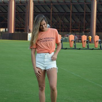 Blacksburg Forever Tee in Orange