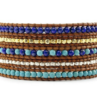 Oh So Blue Wrap Bracelet 5 wrap - Friendship Bracelet - Christina Guenther