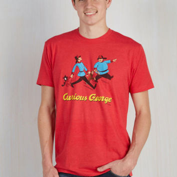 Critters Long Novel Tee in Curious George - Men's