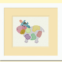 Spotted Cow  -  PDF Cross Stitch Pattern - INSTANT DOWNLOAD