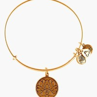 Women's Alex and Ani 'Lotus Peace Petals' Expandable Wire Bangle - Russian