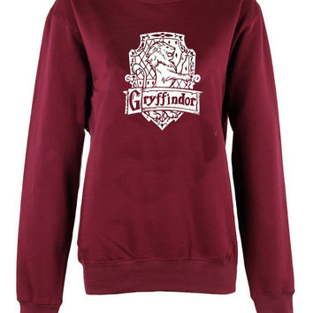 Gryffindor House Harry Potter Hogwarts Alumni broom logo shirt unisex womens mens ladies  crew neck print sweatshirt