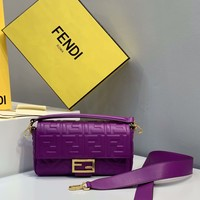 Fendi Fashion Purple Women Leather Crossbody handbags Shoulder Bag