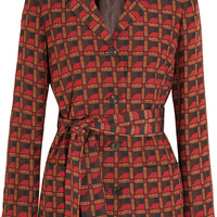 Etro - Printed silk-blend crepe jacket
