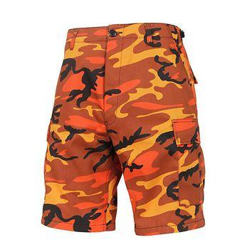 2018 New design 8 Color Available BDU Hip Hop cotton cargo board shorts men Clothing camouflage summer kanye west military short