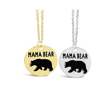 Animal Inspired Cute Mama Bear Necklace