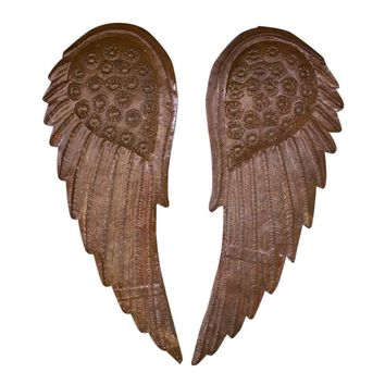 Hand Hammered Angel Wings (Set of 2)