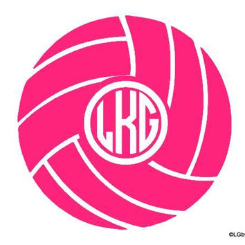 Volleyball Decal with Monogram