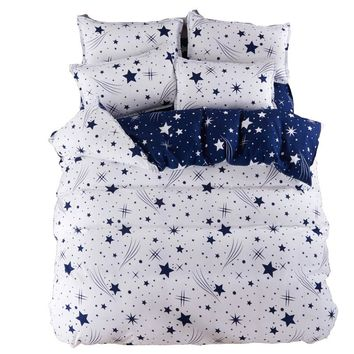 White Star Bedding Set Duvet cover set super king Galaxy bedclothes Bed sheet Adults bedding sets bed linens AB design