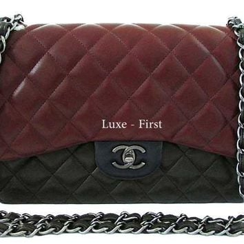Chanel Jumbo Limited Edition Tri Color Quilted Flap Bag BRAND NEW in BOX