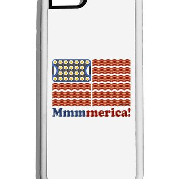 American Breakfast Flag - Bacon and Eggs - Mmmmerica White Dauphin iPhone 6 Cover by TooLoud
