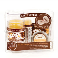 Latte Coffee Gift Set - All Natural Body Product Gift Set