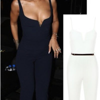 Ania Belted Jumpsuit Ivory