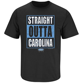 Carolina Panthers Fans. Straight Outta Carolina Black T Shirt Short or Long Sleeve (Sm-5X)