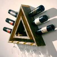 Triangular Wood Wine Rack