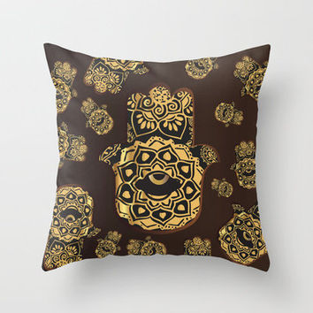 Hamsa / خمسة‎ / five Throw Pillow by Sara Eshak | Society6