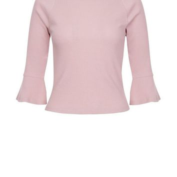 Pink Flared Sleeve Fitted To