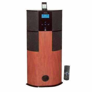 600 Watt Digital 2.1 Channel Home Theater Tower w/ iPod/iPhone Docking Station - Cherry Wood Finish