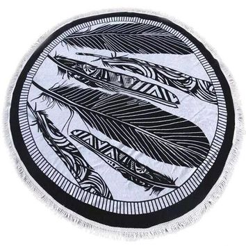 DCCKJG2 Top Quality Fashion Round Hippie Tapestry Beach Throw Roundie Mandala Towel Women Summer Beach Cover Up Scarf Yoga Mat