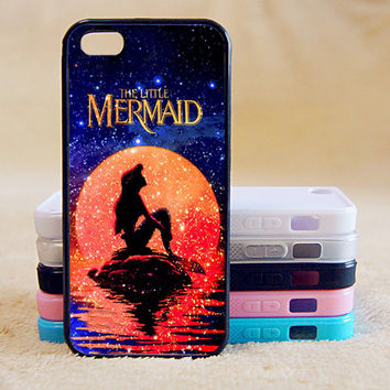 Little Mermaid,Cute,Custom Case, iPhone 4/4s/5/5s/5C, Samsung Galaxy S2/S3/S4/S5/Note 2/3, Htc One S/M7/M8, Moto G/X