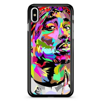 Tupac Shakur Pop Art iPhone X Case
