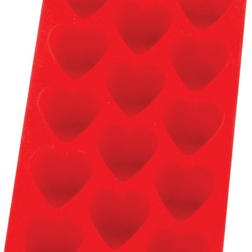 Red Silicone Heart Ice Cube Tray