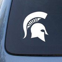 Michigan State Spartans - Car, Truck, Notebook, Vinyl Decal Sticker #2719 | Vinyl Color: White