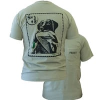 Southern Couture High Priority Lab Dog Mallard Duck Stamp Country Pocket Unisex Bright T Shirt