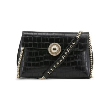 Versace Black Synthetic Leather Crossbody Bag