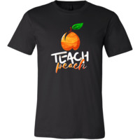 Funny Inspirational Teach Peach Stamped T-Shirt