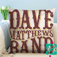 Dave Matthews Band Logo Zippered Pillow Case, Cushion Case, Pillow case