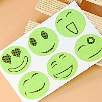 NEW 60 Stickers Cute Mosquito Repellent Patch Smiling Face Type Drive Midge Mosquito Killer Anti Mosquito Repeller Sticker