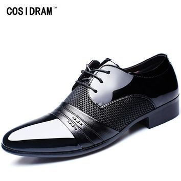 COSIDRAM Hollow Outs Timeless Men Formal Dress Shoes