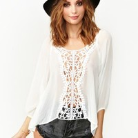 Wander Crochet Top - White