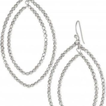 Silver Plated Large Chandelier Earrings | Bardot Silver Hoop Earring