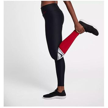f37e9739be5ef NIKE POWER TGHT PL CLRBLK SP WOMEN'S TRAINING TIGHTS