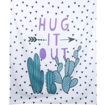 Hug It Out Cactus Wall Tapestry