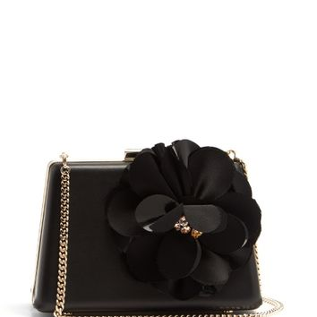 Le Petit Sac flower-appliqué leather box clutch | Lanvin | MATCHESFASHION.COM US