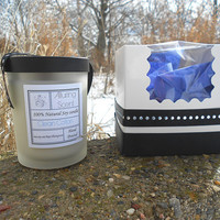 Clean Cotton wood wick, natural soy candle.