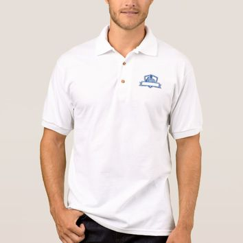 Referee Umpire Official Hold Whistle Crest Retro Polo Shirt