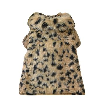 Warm Winter Leopard Fur Sweater
