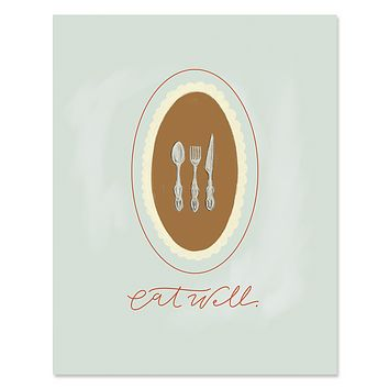 Eat Well - Print & Canvas