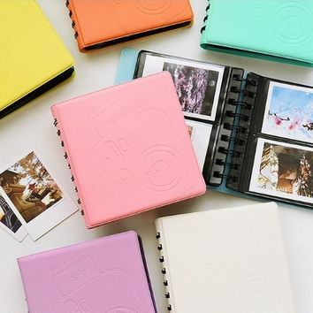 Happy Gifts High Quality 68 Six Colors Pockets  Mini Photo Album Picture Case Storage for Fujifilm Instax Mini Film 0521