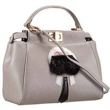 Fendi Peekaboo Karlito Capsule Detail Grey Bag